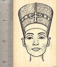 Egyptian Queen Nefertiti Rubber Stamp, Wife Consort of Pharaoh Akhenaten K901 WM