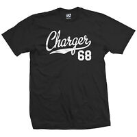 Charger 68 Script Tail T-Shirt - 1968 Classic Muscle Car Tee  - All Size & Color