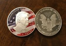 DONALD TRUMP SILVER EAGLE COIN MAKE AMERICA GREAT AGAIN POSTER 45th PRESIDENT D2