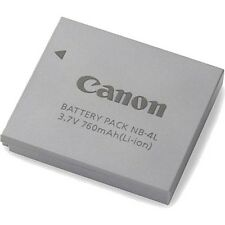 BATTERIA ORIGINALE nb4l Canon nb-4l IXUS 30 40 50 55 60 65 70 75 80 100 115 120 130