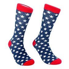 USA Stars Dress Socks for Men - Red White Blue - Cotton - (One Pair)