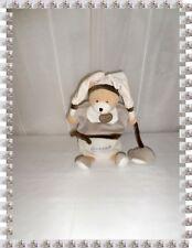 I- Doudou Marionnette Ours Blanc Beige Graines de Doudou  Doudou et Compagnie