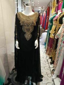 Moroccan Islamic Modern Kaftan Farasha Jilbab Abaya Very Fancy Party Wear Var