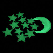 Moon Stars Color Glow In The Dark Luminous Fluorescent Stickers Decal 2017