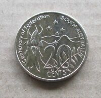 AUSTRALIAN  2001 CENTENARY OF FEDERATION...SOUTH AUSTRALIA...20 CENT COIN.