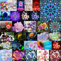 5D DIY Full Drill Diamond Painting Flower Cross Stitch Embroidery Home Decal