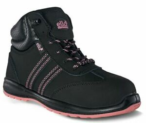 Ladies Womens Ella Leather Steel Toe Safety Hiking Work Boots Shoes Size