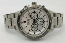 Seiko Mens Stainless Steel Dial 100M Chronograph Date 44mm Watch