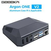 GeeekPi Argon One V2 Black Mini Aluminum Case For Raspberry Pi 4B