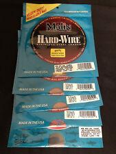 Lot of 3 Malin Hard-Wire #5/43 lb. Test 42 ft. Coffee - Item LC5-42 - NIP