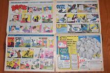 Lot (2) Sunday Newspaper Comics Philadelphia Inquirer Rotocomic 1963 1966