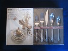 NOS & NWT! 50 pc set SERVICE 8! Vintage EKCO stainless: CROWN TIARA pattern: EXC