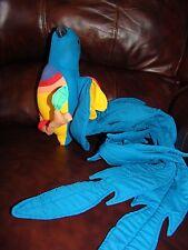 Vintage 1986 Angelitos Hand Made in El Salvador Blue Parrot Tropical Bird Doll