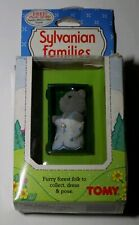 Vintage 1985 In Box TOMY Sylvanian Families Baby With Cradle
