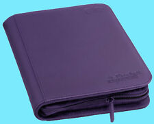ULTIMATE GUARD PURPLE 4 POCKET XENOSKIN ZIPFOLIO Card Storage BINDER Page Album