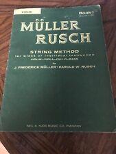 Muller Rusch String Method Book 1 For Violin