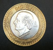 MEXICO $20 NUEVOS PESOS 1993  SILVER COIN EXCELLENT CONDITION.