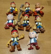 """Lot of 8 Disney Jake & The Neverland Pirates 4"""" Toy Figures"""