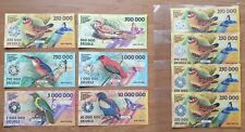 LOT 5 SETS Elobey Grande Set of 6 banknotes 2017 UNC Private issue (20477)