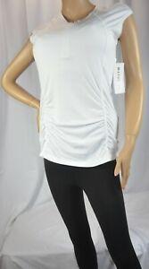 NWT $54 Athleta Pacifica Contoured Tank Top Shirt Rashguard Bright White #405067