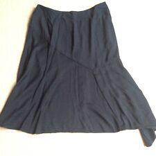 "Per una navy blue skirt 36"" waist 16 18 one side longer"