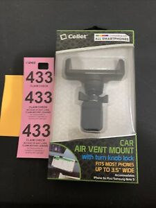 Cellet Premium Air Vent Universal Smartphone Car Mount with 360 Degree Rotation