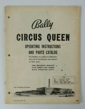 Bally Circus Queen Bingo Pinball Machine Operating Instructions & Parts Catalog