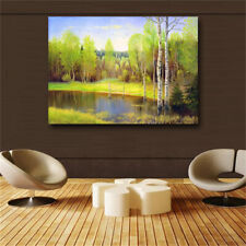 Green landscape oil painting Canvas printing Print in oil painting Home decor