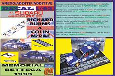 ANEXO DECAL 1/43 SUBARU IMPREZA 555 BURNS & MCRAE MEMORIAL BETTEGA 1993 (07)