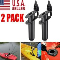 2X Plastic Flush Mount Fishing Boat Rod Holder and Cap Cover for Kayak Pole US