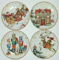 Williams Sonoma 4 Twas the Night Before Christmas Salad Plates w/1 Rare Plate!