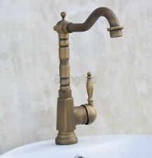 Traditional Antique Brass Swivel Kitchen Sink Faucet Mixer Tap 8an017