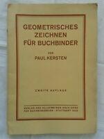 Geometrisches Zeichnen für Buchbinder, Fachbuch 1935