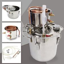 12L 3 Gal Water Alcohol Wine Distiller Moonshine Still Boiler Stainless Copper