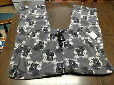 Croft /& Barrow fleece sleep lounge pants Mens Small Moose red gray 9-439A