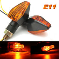 2x 12V Universal Motorcycle Bike Turn Signal Indicator Light Lamp Bulb E-Marked