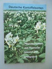 Deutsche Kartoffelsorten Pflanzkartoffeln aus Hannover gesund erfolgreich 1974