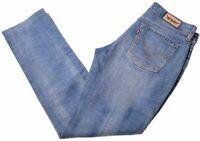 LEVI'S Womens Jeans 571 W31 L30 Blue Cotton Slim  LJ04