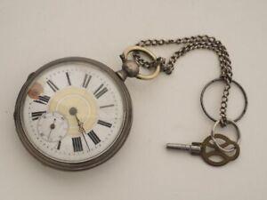 Taschenuhr Frackuhr Herren 19 rubis ancre ligne droite Schlüsselaufzug Uhrmacher