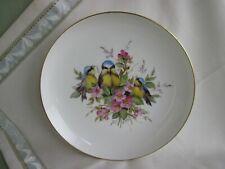 Schöner Meissen Teller mit Vogel-Dekor, Blumen und Goldrand