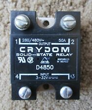 CRYDOM D4850 SOLID STATE RELAY 3 - 32 VDC INPUT 480VAC 50A LOAD
