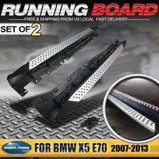 NEW Luxury Running Board Side Step Nerf Bar for BMW X5 E70 2007-2013 Aluminum