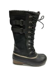 Sorel Conquest Carly 2 Womens Waterproof Boot Black 8.5 M