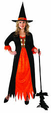 Womens Gothic Witch Costume Halloween Wicked Spooky Adult Plus Size