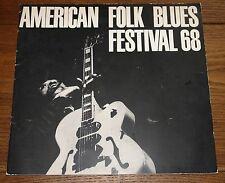 AMERICAN FOLK BLUES FESTIVAL 1968 USA PROGRAMME JOHN LEE HOOKER EDDIE TAYLOR