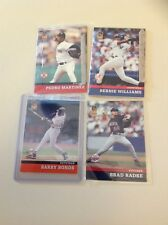 2001 Post Baseball 4 cards - Barry Bonds Pedro Martinez Bernice Williams Radke