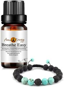 BREATHE EASY Essential Oil & Diffuser BRACELET Set - Aromatherapy Essential Oils