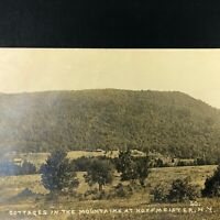 RPPC HOFFMEISTER, NY Cottages in Mountains N.Y. Houses ADIRONDACKS Real Photo