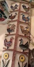 1960s Tunsi J. C. Girard Firenze Italian Art Pottery BirdsTall Vase