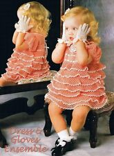 45+ THREAD CROCHET PATTERNS BOOK ~ RUFFLED TODDLER DRESS + HEIRLOOM BABY BOOTIES
